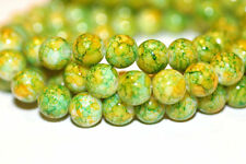 100pc 8mm Yellow Green White Loose Beads-Glass Beads 1-3 day Shipping