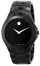 New Movado Museum Dial  Luno Sport Black PVD Men's Watch 0606536