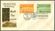 1959 Phil COMMEMORATING THE 5TH ANNIVERSARY MANILA PACT First Day Cover - D
