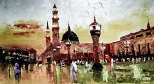 Hajj, Islamic Art, Pilgrimage, Mecca, Spritiual, Medina Large Oil Art