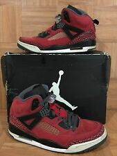 RARE�� Nike Air Jordan Spizike Toro Bravo Red Black Dark Gray Sz 8 315371-601