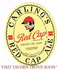 Unused Carling's Red Cap Ale 1Qt Brewing Corp Of America Cleveland OH