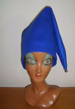 Blue Pointed Hat Elf Gnome Pixie Dwarf Noddy Fairy Tale Fancy Dress Costume M