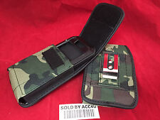 ARMY GREEN NYLON HOLSTER BELT CLIP POUCH FOR IPHONE 6 PLUS EXTEDNED BATTERY CASE
