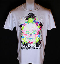 Bnwt Authentic Mens Heroes & Villains Bad Ass Skull T Shirt XLarge White New