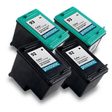 Reman HP 92 Black 93 Color Ink Cartridge for HP PhotoSmart C3180 C4180 4PK
