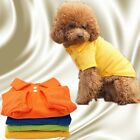 Dog Pet T-Shirts NWT Apparel Doggy POLO Puppy Clothes Size XS S M L Candy Color