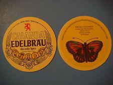 Beer Coaster Mat ~*~ Heineken Calanda Edelbrau ~*~ Chur, SWITZERLAND ~ Butterfly