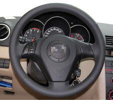 Leather Steering Wheel Cover for 2004 2009 Mazda 3 M3 2006 2008 2010 Mazda 5 M5