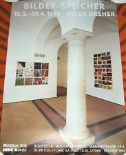 Bilder-Speicher - Peter Dreher  GERMAN 1990 ART EXHIBITION POSTER