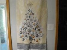 """Winter's Grandeur"" Panel By Robert Kaufman-Black-Gray-Gold-Silver"