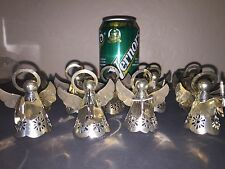 Vintage Silver Plated Angel Napkin Rings, Holidays! Hold Candle,Horn,Book,Music