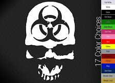 Biohazard Zombie Walking Dead Car Window Decal Wall Sticker - 17 COLORS
