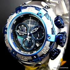 Invicta Reserve Thunderbolt Black MOP Swiss Chronograph Blue Silver Watch New