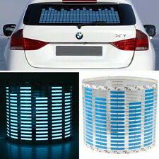 45 x 11cm Sound Music Sensor Car Auto Sticker LED Light Equalizer Glow Blue
