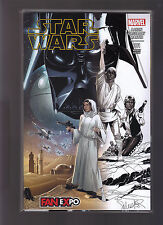 MARVEL COMICS STAR WARS #1 EXCLUSIVE DALLAS FAN EXPO 1/2 SKETCH VARIANT EDITION