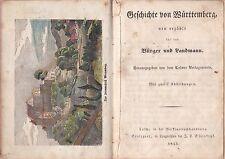 Geschichte von Württemberg, Calw u. Stuttgart 1843