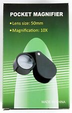 Folding Loupe Magnifier 10X 51mm Folding Pocket Loupe Magnifier (FL10XSTD)