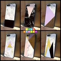 MARBLE BLACK GOLD WOOD PINK PRINT For iPhone Samsung HTC Hard/Rubber Case Cover