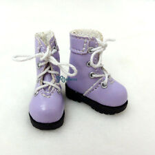 "16cm Lati Yellow Basic Bjd 12"" Blythe Pullip Doll Shoes High Hill Boots PURPLE"