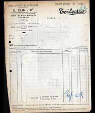"""CHARTRES (28) CHAUFFAGE ELECTRIQUE """"TOILECTRO / E. CLIN & Cie"""" en 1910"""
