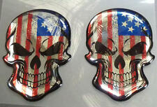 Harley Davidson® Electra Glide Road King Sportster 3D Doming Decal 2er Skull