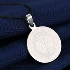 New Fashion Stainless Steel Zodiac Wheel PENDANT NECKLACE Jewelry Gifts For Men