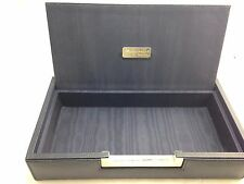 $695 RENZO ROMAGNOLI Mens BLUE Leather Tray KEY Coin PHONE Jewelry DISPLAY BOX