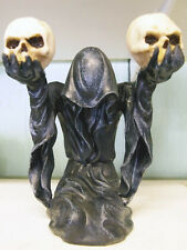 BOW TO DARKNESS Gothic REAPER CANDLE HOLDER Candlestick SKULL Occult Altar PAGAN