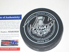 PATRICK SHARP (Hawks) Signed 2015 STANLEY CUP Official GAME 6 Puck w/ PSA COA