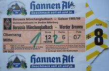 TICKET 1985/86 Bor. Mönchengladbach - Werder Bremen