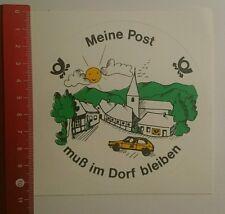 Aufkleber/Sticker: Meine Post muß im Dorf bleiben (100916127)