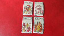 RSA/ SOUTH AFRICA 1985 SG 586-589 FLORAL MNH