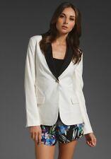 NEW AUTH Elizabeth and James Ecru & Blk Blazer Summer Jacket 6 $425