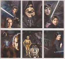 "Star Wars Galaxy 4 - ""Etched Foil Cards"" Set of 6 Chase Cards #1-6"