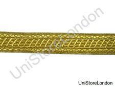 Braid Gold mylar 25mm Rank marking Lace Trim Light Weight R1378