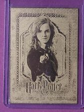Harry Potter-3D Pt2-Gold Metallic-Box Topper Card-Emma Watson-Hermione-BT2