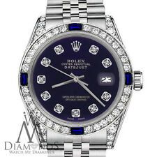 Rolex 36mm Datejust Purple Color Dial with Sapphire & Diamond Watch