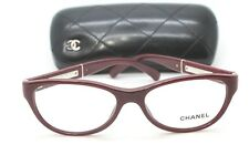 New Chanel 3233Q c1426 52mm Burgundy RX Cateye Eyeglasses Frames Auth W Case