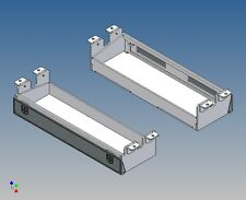 GOM174 - Stauboxen Paar (174mm) für Carson Goldhofer Tieflader M1:14