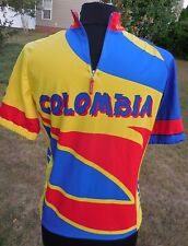 Zerie Cicling Cycling Jersey Mens Sz S Columbia Bright Bicycle Shirt Half Zip
