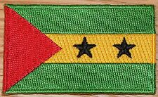 SAO TOME & PRINCIPE Country Flag Embroidered PATCH Badge