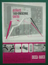 1/1964 PUB DECCA HARCO AUTOMATIC THREE DIMENSIONAL CONTROL AIRLINERS AIRPORTS AD