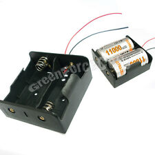 """1 x Battery Clip Holder Case Box For 2 x D Size R20 HR20 Battery w/ 6"""" Wire Lead"""