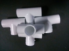 "3/4"" inch PVC sched. 40 Tees 90 deg. LOT of 5 Plumbing Sprinkler Made in USA!"