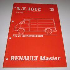 Werkstatthandbuch Renault Master Gemischaufbereitung Pumpen Vorglühanlage 1990!