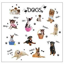 Dog Pet Shop Wall Sticker Art Lovely Cute Animals For Kids Baby Room 1