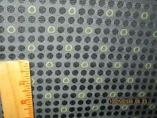 """1 YD & 5""""MOMENTUM UPHOLSTERY FABRIC """"KNACK"""" COLOR CARBON CIRCLES AND DOTS"""