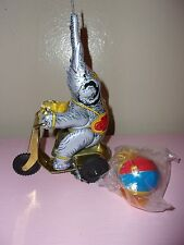 Tin Wind Up Elephant Bike Toy IOB 2188 Ball & Tassels Spin Schylling Collector