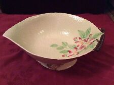 "Exquisite Carlton Ware Australia Design ""Apple Blossom"" Green Footed Leaf Bowl"